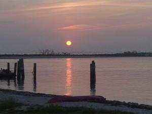Sunrise over Bush Key