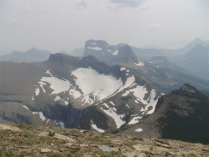 View from Swiftcurrent Pass
